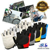 Sports Gym MTB Bike Bicycle Cycling Half Finger Gloves Gel Pad Outdoor S/M/L/XL