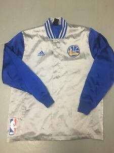 Golden State Warriors adidas Jacket Size Large Satan W Logo Snap Up NBA Finals