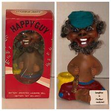 Vintage 60s HAPPY GUY Laughing Guy Drunk Beer Hair Black Indian IN ORIGINAL BOX