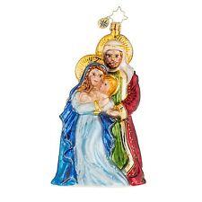 Christopher Radko 1018147 Blessed Beginning - Holy Family Retired Ornament
