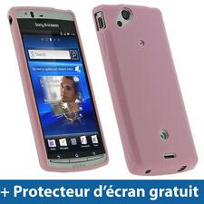 Rose Étui Housse Brillant Cristal TPU pour Sony Ericsson Xperia Arc S Android