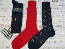 POLO RALPH LAUREN Exquisite Sock Novelty SKIERS O S Navy 3 pk Socks BNIP be777a699d46