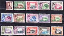 DOMINICA 1938/47 George VI - set of 15 lightly mounted mint. Catalogue £75