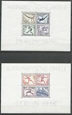 Empire Allemand de 1936 Neuf Bloc 5+6 Olympiques Jeux D'Été Berlin
