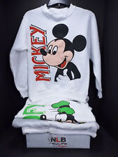 Lot of 4 USED Children's Disney Mickey, Goofy Crewneck Sweatshirts SIze LARGE