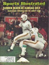 1972 1/3 Sports Illustrated Football magazine Garo Yepremian, Miami Dolphins EX