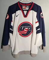 Rare Vintage NIKE Team USA 1998 Olympics Hockey Jersey Men's Size 48