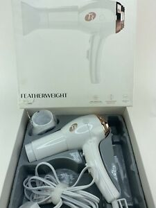 T3 Featherweight Ceramic Hair Dryer Blower White Rose Gold Full Size 73859