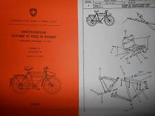 Ersatzteilkatalog Schweitzer Militärrad Armee Ordonnanz Fahrrad Velo M 93