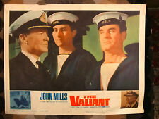 The valiant 1962 United Artists war lobby card John Mills H.M.S. Warship