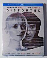 Distorted (2018 Blu-Ray / DVD) BRAND NEW John Cusack, Christina Ricci SLIPCOVER
