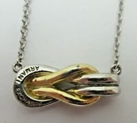 Armani Exchange Knot NECKLACE Gold and Silver Tone Signed