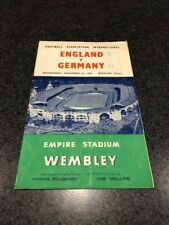 England v Germany International Football Programme 1954