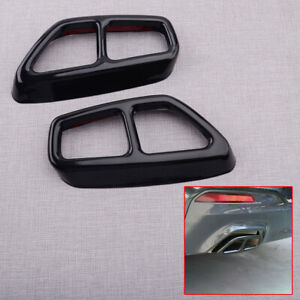 2x Exhaust Muffler Pipe Tip Cover Trim fit for BMW 5 Series G30 G31 2017-2020