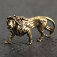 Fengshui Statue Vintage Ornament Chinese Handmade Coppers Brass Lion Small Hot