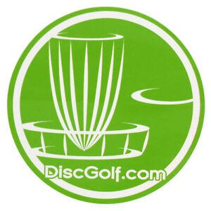 "DGA CIRCLE BASKET LOGO Disc Golf 4.5"" Die Cut Sticker - PICK YOUR COLOR"