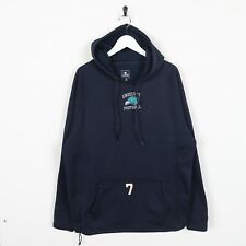 Vintage CHAMPION USA Central Logo Polyester Hoodie Sweatshirt Blue Medium M