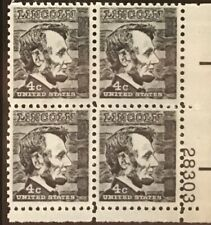 New ListingExtremely Rare United States Abraham Lincoln Superb Vintage Block Of 4 Stamps