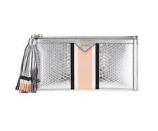 Victoria's Secret Luxe Python Wallet Striped Snake Clutch Bag