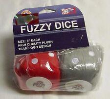 "THE OHIO STATE BUCKEYES 3"" FUZZY DICE, NIP........................g"