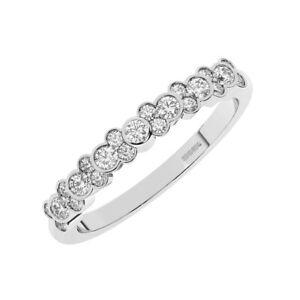 0.50 Ct Bezel Set Round brilliant Cut Diamond Half Eternity Ring in 950 Platinum