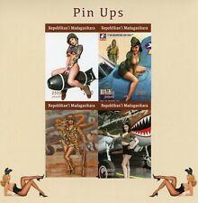 More details for madagascar art stamps 2020 mnh pin-ups pin-up girls aviation 4v impf m/s i