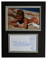 Brigitte Bardot Signed Autograph 10x8 photo display Film Flower Art AFTAL COA