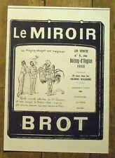 PUBLICITE  MIROIR BROT POINCARE    advertising 1924