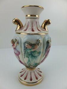 Vintage CAPODIMONTE Made in Italy Baroque Urn Vase