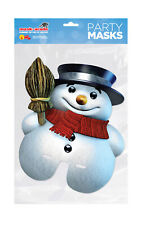 Christmas Snowman Half Face Party Mask A4 Card Fancy Dress Ladies Mens Kids Xmas