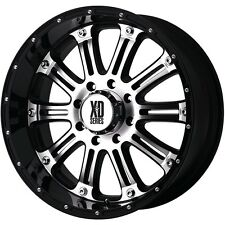 20 Inch Black Silver Wheels Rims Dodge RAM 2500 3500 8x6.5 Lug XD Series XD795