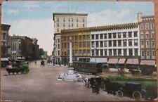 1909 Postcard-Hardware/Cigar Store/Trolley-Watertown NY