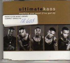 (BO93) Ultimate Kaos, Anything You Want - 1999 DJ CD
