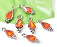 free ship 5PCS Fashion Scarlet Teardrop Charm Red Crystals Pendant 19mm SH1035