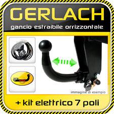Seat Ibiza GLX GTI 1996-1999 gancio traino estraibile orrizzontale + kit 7