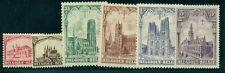 Belgium #B78-83 Complete set, Cathedrals, og, Nh, Vf, Scott $65.00
