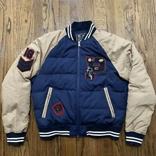 Polo Ralph Lauren Down Varsity Football Letterman Jacket, Size Medium NWT $398