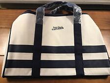 Jean Paul Gaultier Men Duffle Bag Weekender Gym Travel Overnight Handbag Navy