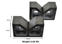 "6"" Cast Iron Angle V Blocks B6"" Pair Set Precision Tool, Machining/ Milling"