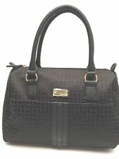 Tommy Hilfiger Women's Handbag Bowler*Black Satchel Tote Purse New