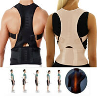 Magnétique Posture Douleur Dos Sensation Correcteur Support Bretelles Noir Beige