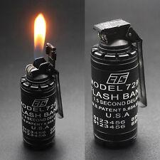Military Novelty Smoke Shell Refillable Butane Gas Flame Cigarette Lighter Gift