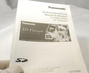 Panasonic SD Viewer 2.0  Digital Camera PC Connection Manual software Guide