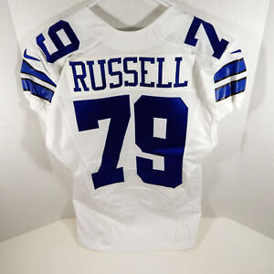 2014 Dallas Cowboys Ryan Russell #79 Game Issued White Jersey