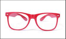Men Women Classic Geek Nerd Clear Lens Glasses Unisex Fashion Candy Color Frame