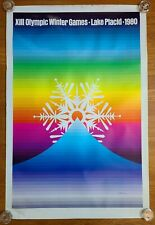 Lake Placid XIII 1980 Olympic Winter Games Lake Placid Snowflake Vintage Poster