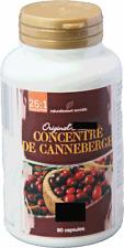 Concentré de Canneberge - Cranberries - 25/1 - 400 mg - 90 gélules