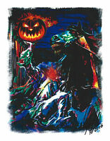 Headless Horseman The Legend of Sleepy Hollow Halloween 8.5x11 Art Print Poster