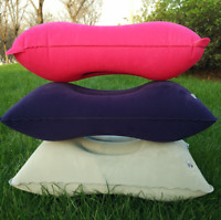Outdoor Air Inflatable Travel Head Rest Air Cushion Neck Pillow Portable DL5