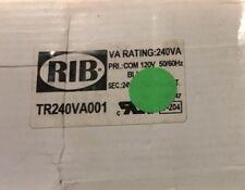 2 Rib Tr240Va001 Control Transformer,240Va,24Vac Functional Devices Inc